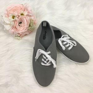 Gray Canvas Sneakers